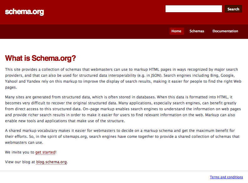 Schema.org, the website for schema markup